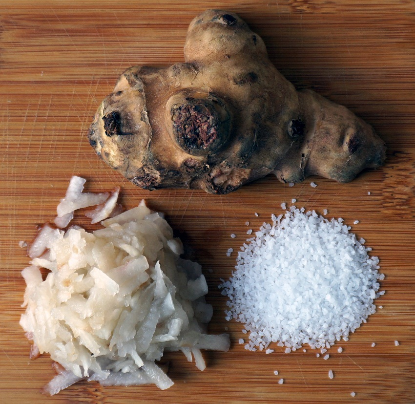 Fermented sunchokes (bottom left)  are used as ingredients No. 9 Park.  Photo by Ben Wolfe.