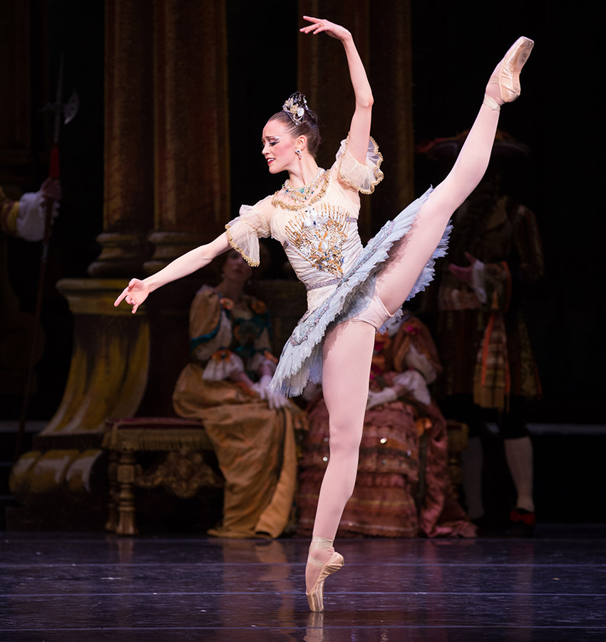 Dusty Button in Boston Ballet's The Sleeping Beauty by Rosalie O'Connor