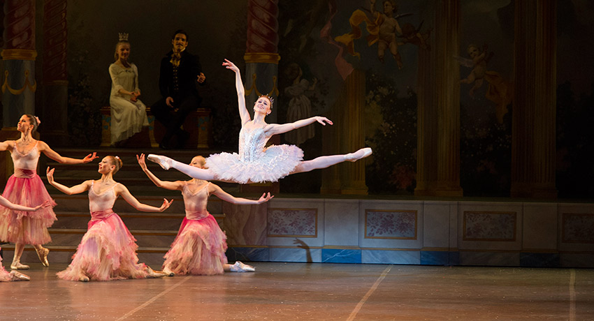 Dusty Button in Boston Ballet's The Nutcracker by Gene Schiavone.