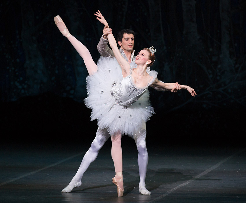 Dusty Button and Lasha Khozashvili in Boston Ballet's The Nutcracker by Rosalie O'Connor.