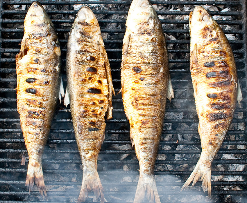 Grilled fish photo via Shutterstock