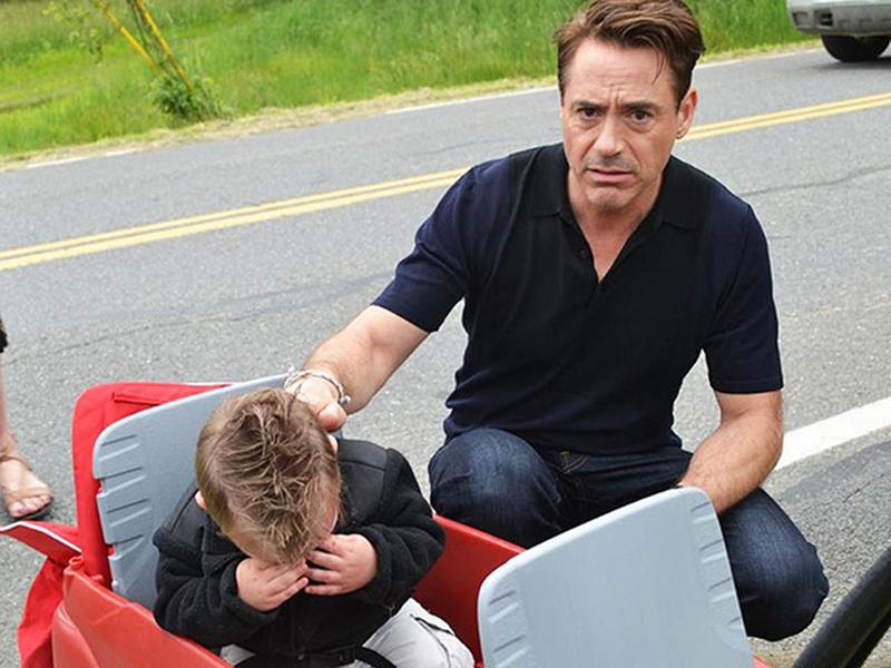 Robert Downey Jr. Jaxson Denno Iron Man Crying Photo