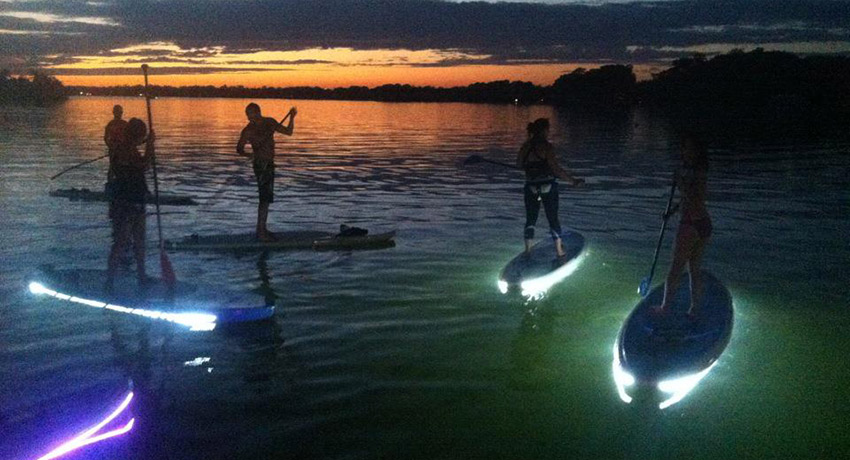Night SUP photo via Facebook