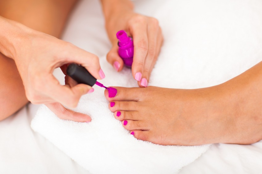 Pedicure photo via Shutterstock