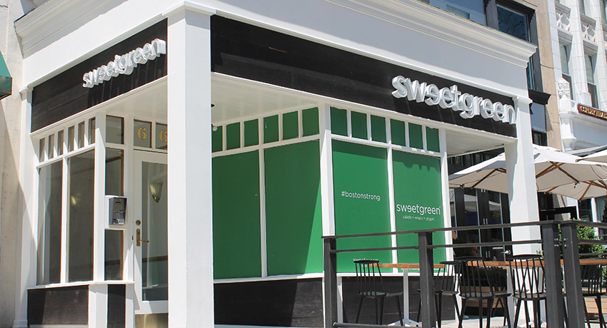 D.C.'s beloved organic salad and froyo shop open on Boylston St. today. Photo provided.
