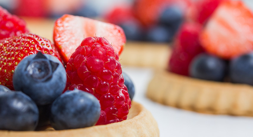 Fruit tart photo via Shutterstock