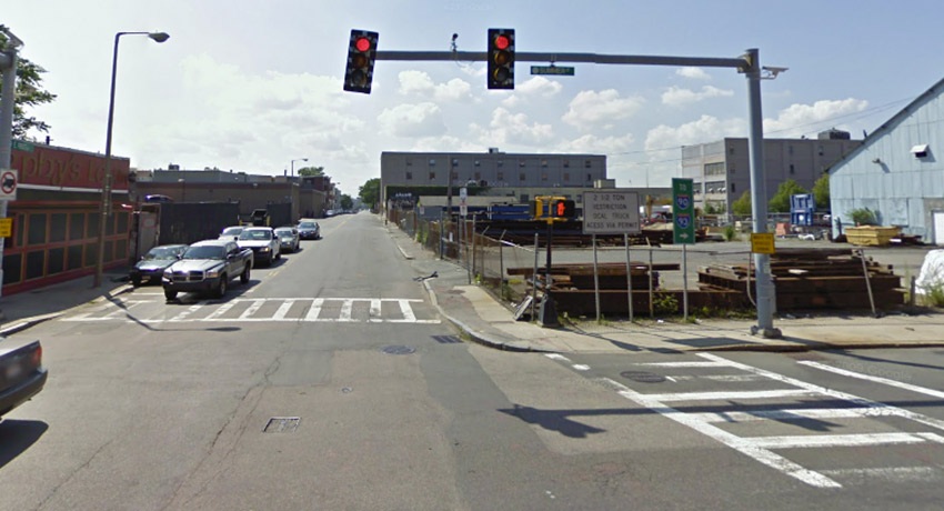 Proposed site on the right. Left: Murphy's Law