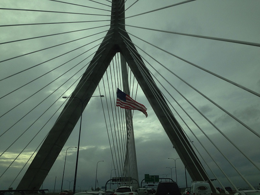 The American flag caused a car crash on the Zakim Bridge - Personal