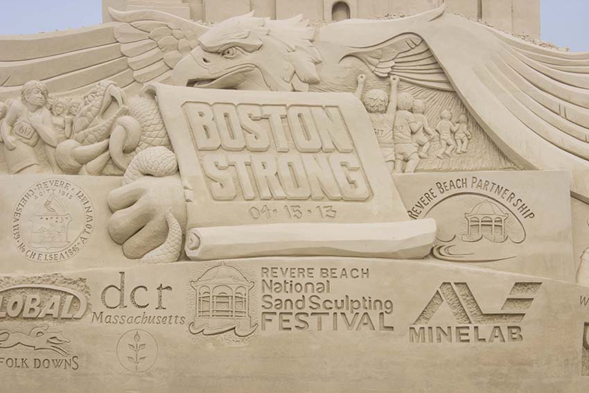 boston strong sand sculpture