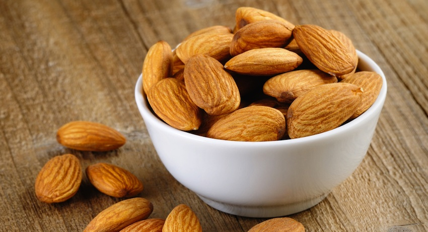 Almonds image via Shutterstock.