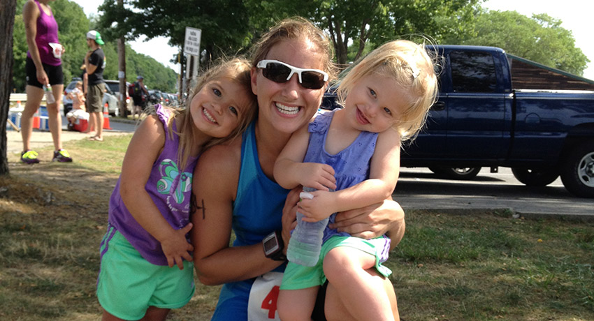 TK and her kids at a race. Photo provided.