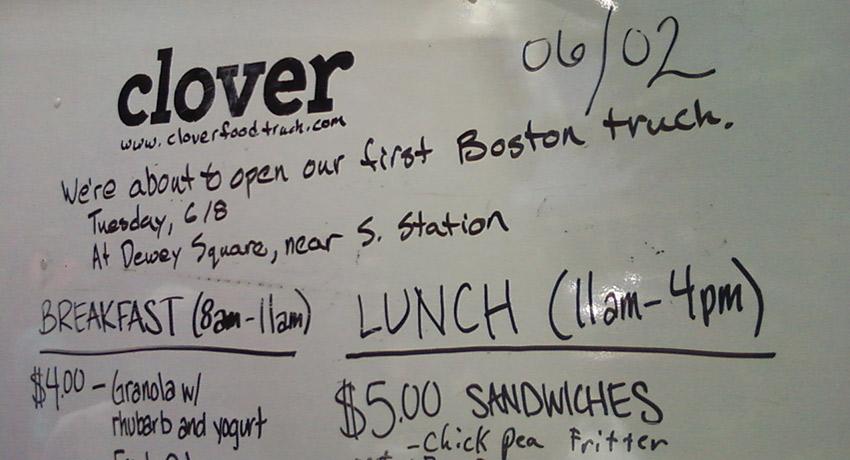 Clover board via Flickr/