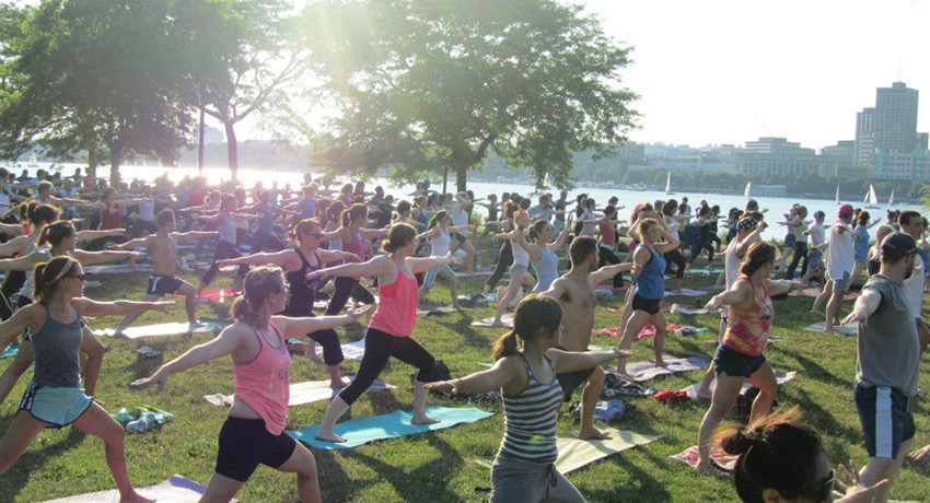 Yoga on the Esplanade photo via The Esplanade Association Facebook