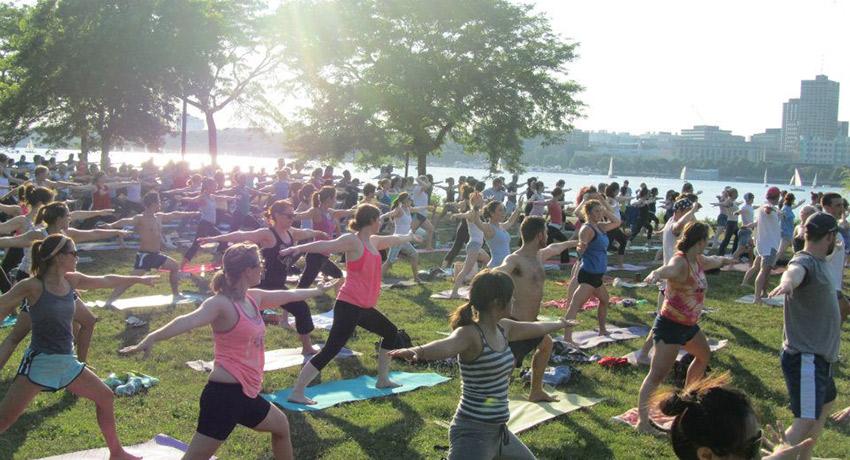 Yoga on the Esplanade photo via The Esplanade Association Facebook