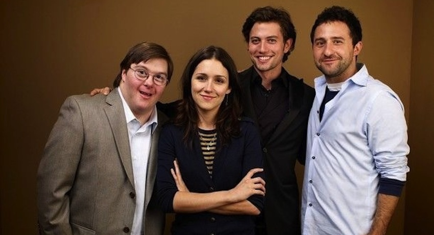 Sneider with other cast members from his film, Girlfriend. All photos provided.