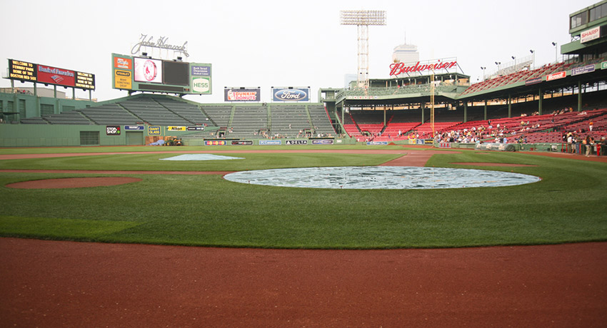 The best yoga class ever? Fenway Park photo via aceshot1 / Shutterstock.com