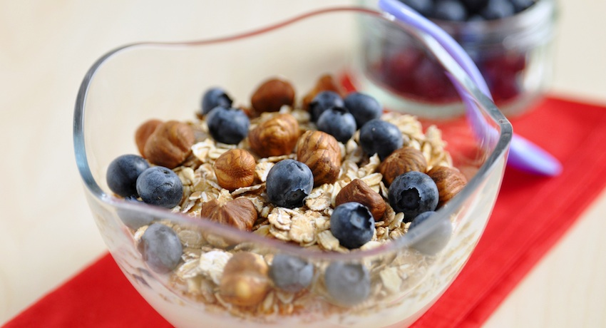 Yogurt with granola image via Shutterstock.