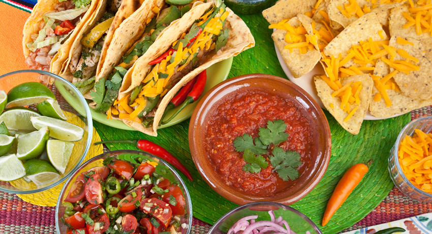 Mexican food photo via Shutterstock