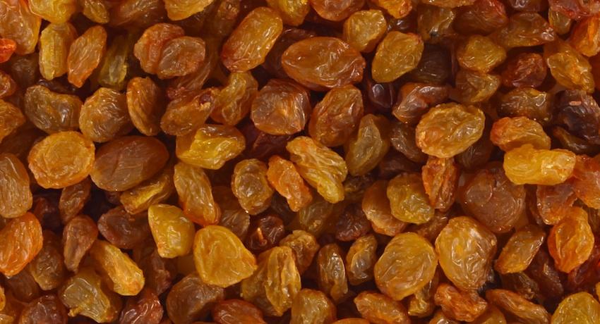 Raisins image via Shutterstock.