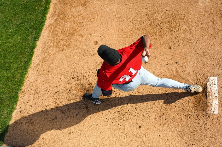 Baseball pitcher image via Shutterstock