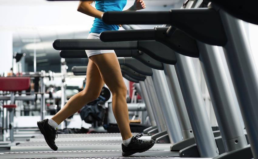 Treadmill image via Shutterstock.