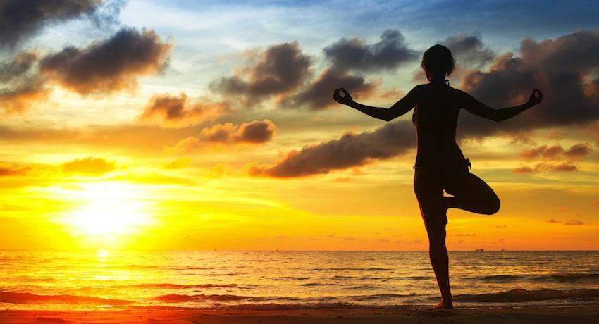 Yoga image via Shutterstock.