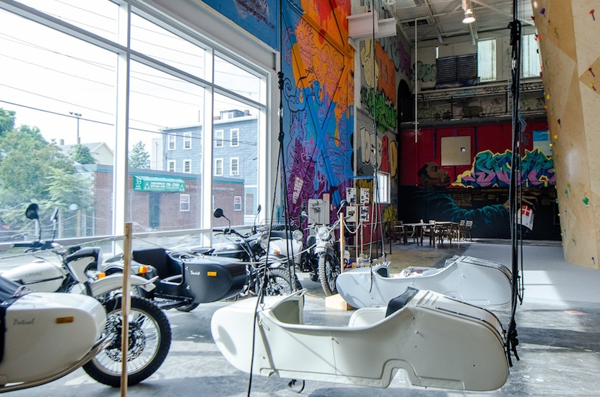 The art inside of BKB Somerville is local. Photo by Natalya Boltukhova of Pedal Power Photography.