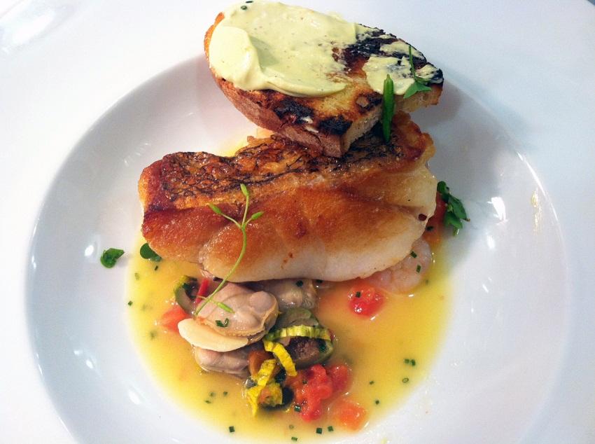 Chefologyhake with plankton mayo