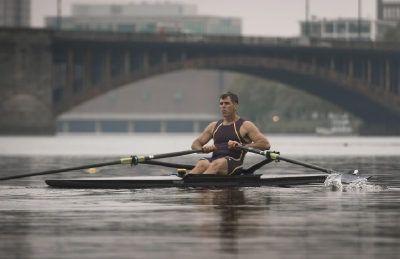 LIGHTCHASER PHOTOGRAPHY BRIGHAM AND WOMEN'S HOSPITAL CARDIAC PATIENT AND ROWER MICHAEL CATALDO TRAINS FOR HEAD OF THE CHARLES REGATTA