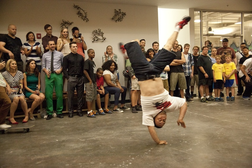 During their grand opening, BKB Somerville also provided entertainment from local break dancers. Photo by Stephanie Crumley.