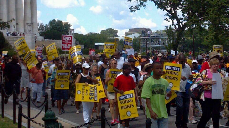 Marching on the Mall / Photo by Rev. Talbert Swan