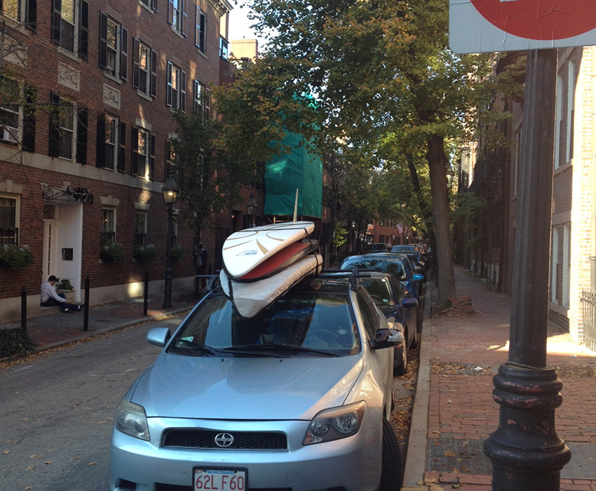 Surfers in Beacon hill. Photo by Melissa Malamut