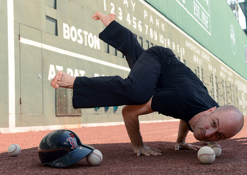 This is happening, people! Start fundraising now. Yoga at Fenway image provided.
