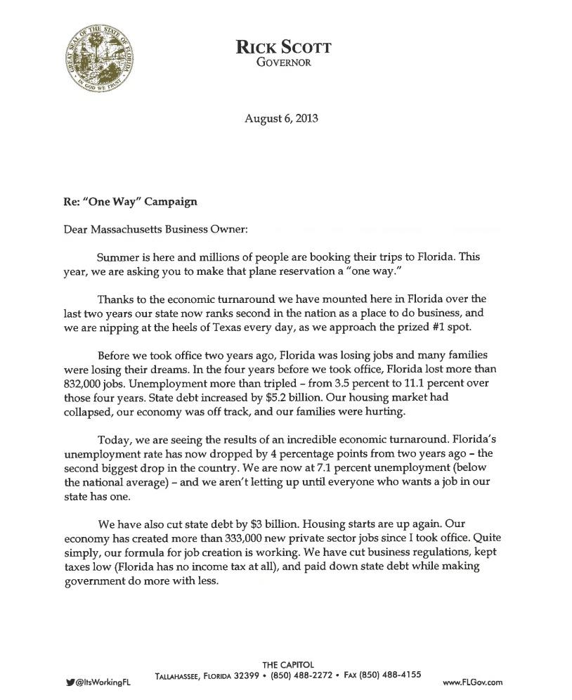 florida letter