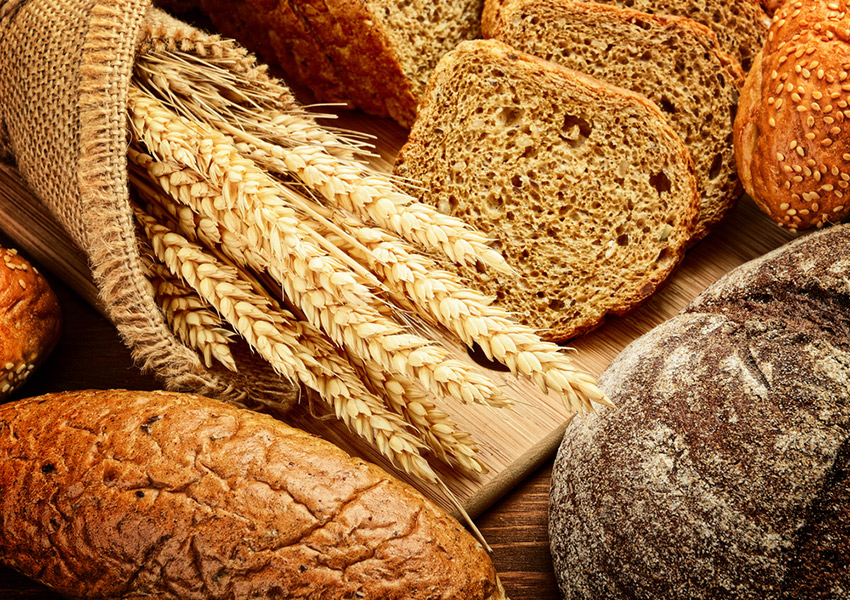 Not gluten-free. Bread and wheat photo via shutterstock.