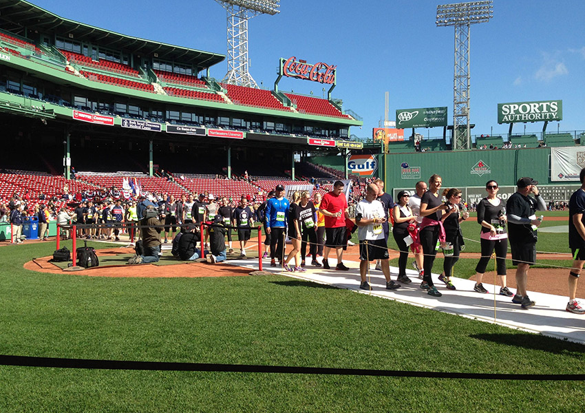The annual Run to Home Base fundraiser starts and ends at Fenway Park. Photo provided by the Home Base Program