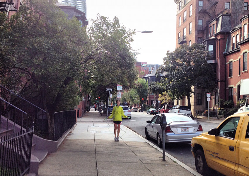 In Boston, people are fit. Jumping rope in the Back Bay. Photo by Melissa Malamut
