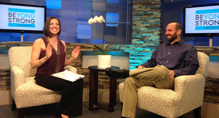 Jessica on set. Photo provided.