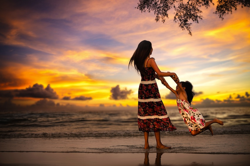 Mother and child image via Shutterstock.