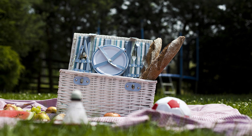 Picnic photo via Shutterstock