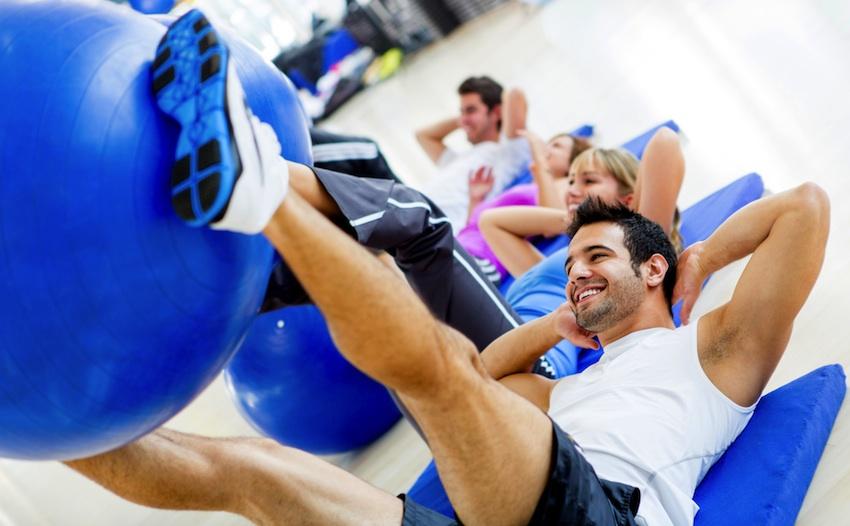 Pilates studio image via Shutterstock.
