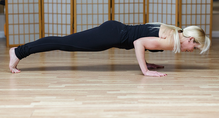 Pilates push-up.
