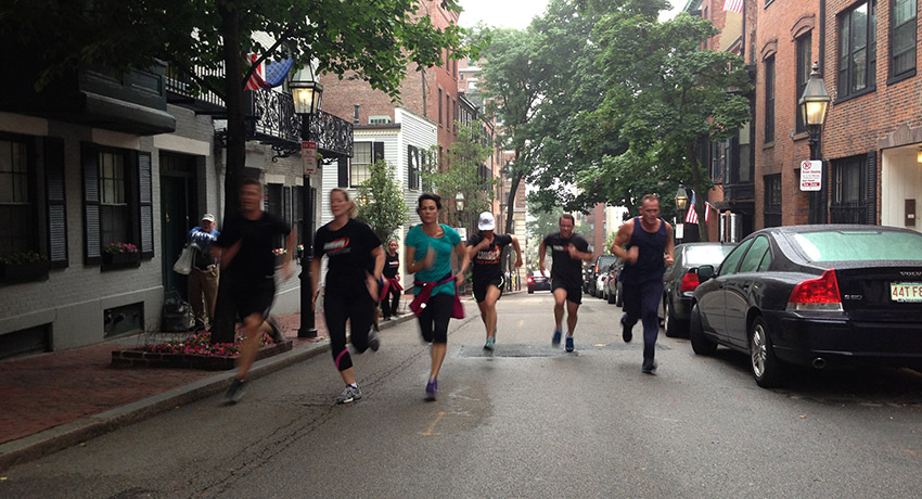 Runners in Boston. Photo provided.