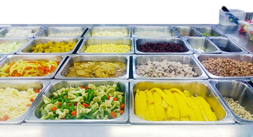 Salad bar photo via shutterstock