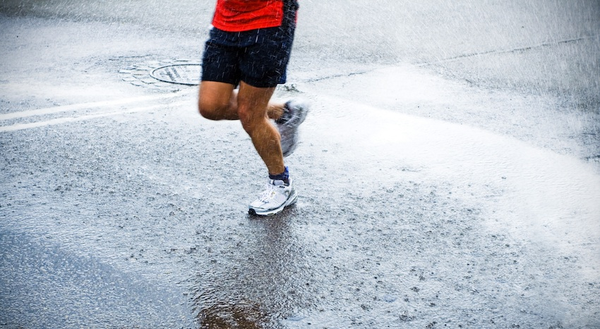 Running in the Rain Image via Shutterstock.