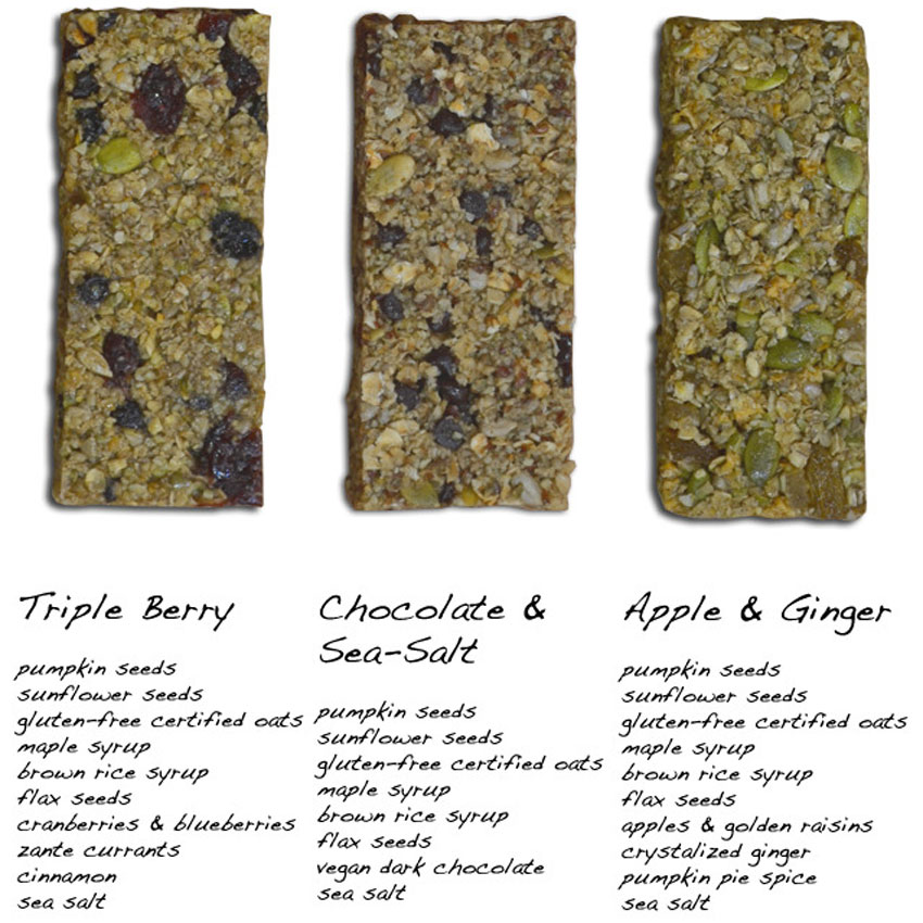88 Acres three granola bar flavors. Image provided.