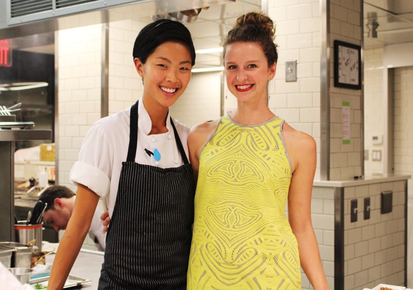 Kish poses with Meredith Gallagher, General Manager at Menton.