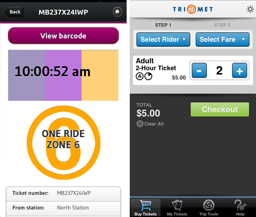 mbta app screenshot