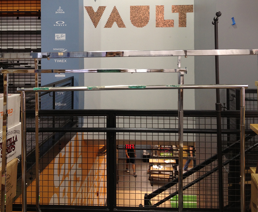 And old bank vault will now house athletic apparel. Photo provided.