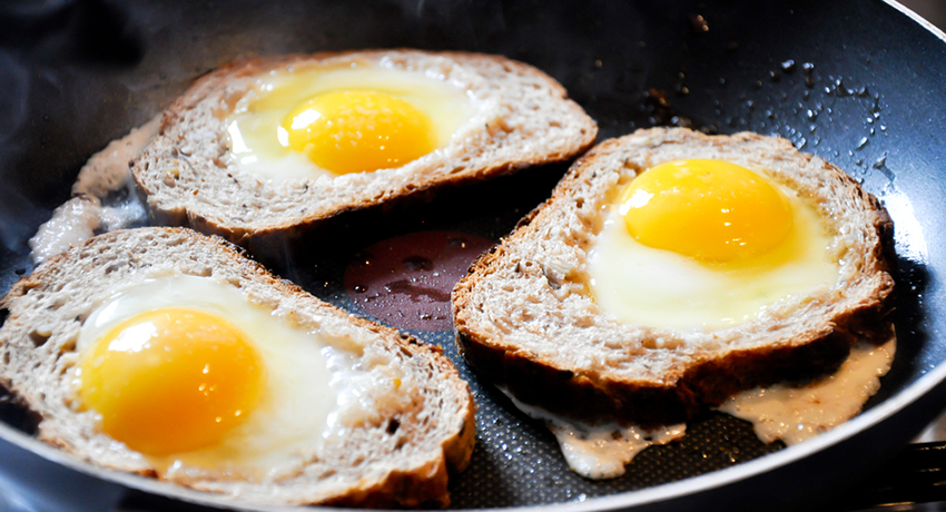 Even fried eggs can be made in a healthy way. Breakfast image via shutterstock